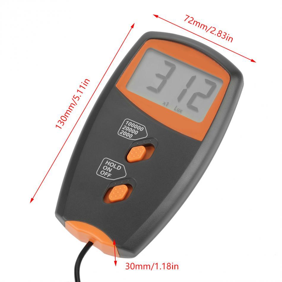 LX1010BS Digital Luxmeter LCD Display Light Meter Environmental Testing Illuminometer Luxmeter