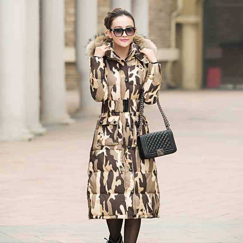 New Winter Jacket Women  Long Section Padded Jackets Female Hooded Cotton Feminine Coat Fashion Parka Plus Size C822 2016 new long winter jacket men cotton padded jackets mens winter coat men plus size xxxl