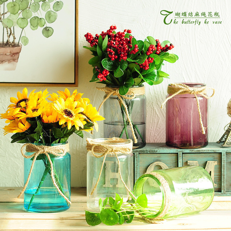 Aliexpress.com : Buy New Nodic Style Colorful Glass Bottle ...