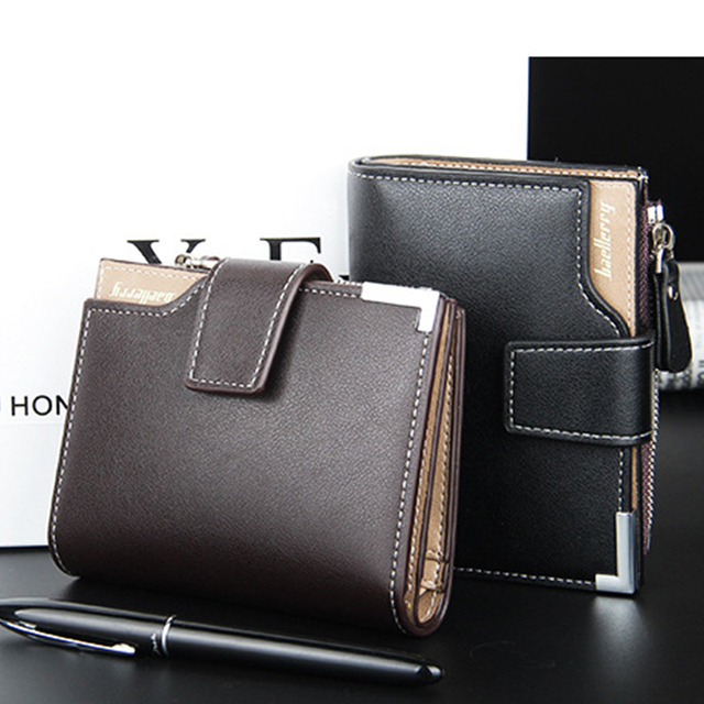 0e651de0cfd30f Baellerry brand Wallet men leather men wallets purse short male clutch leather  wallet mens money bag quality guarantee