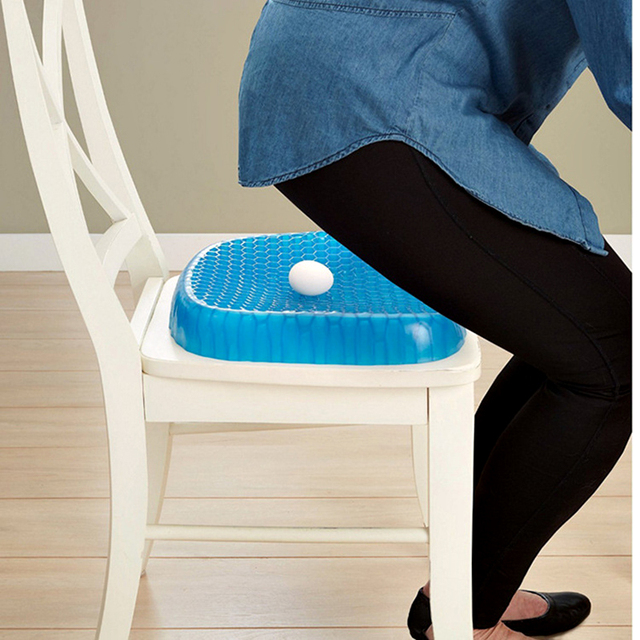 Cojín de asiento de Gel Flexible transpirable cómodo cojín de coche para sofá Cervical cuidado de la salud almohadilla de liberación del dolor decoración del hogar