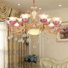 European crystal chandelier modern simple living room luxurious atmosphere dining lamps