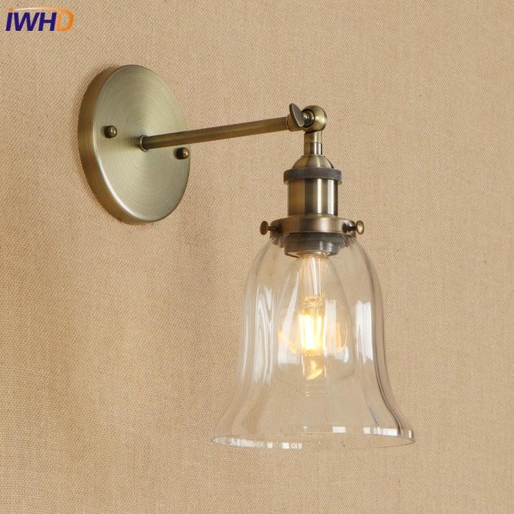 настенный светильник leds c4 wall fixtures 05 0468 14 55 IWHD Vintage Iron Adjustable Wall Lamp Loft Edison LED Wandlamp RH Wall Light E27 4W Retro Bathroom Light Fixtures Home Lighting