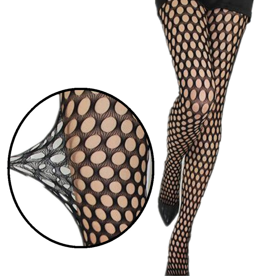 2019 Creativing Women Sexy Hole Hollow Stockings High Elastic Tights Black Hosiery Female Long Pantyhose