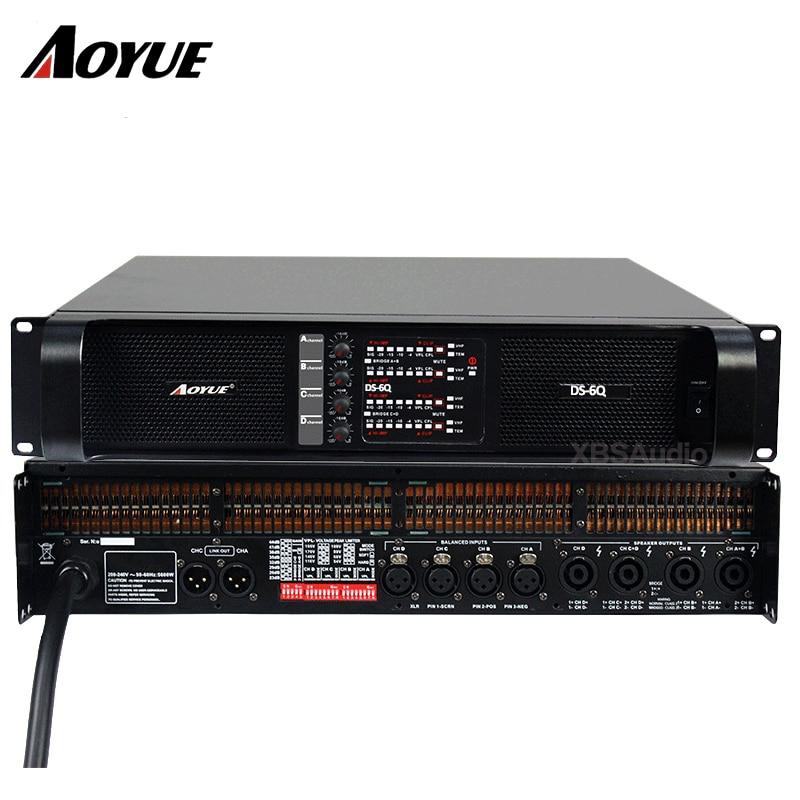 DJ 700 Вт * 4ch 8 Ом аналоговый Усилители домашние профессиональный звук Системы открытый аудио Мощность Усилители домашние