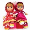 27 cm Popular Masha e Bearv inverno Plush Dolls Alta Qualidade Russo Martha Marsha Algodão PP Brinquedos Infantis Aniversário de Briquedos presentes