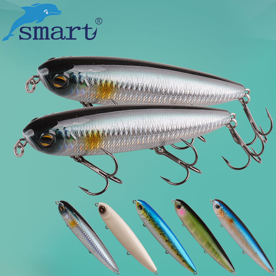 SMART Top Water Pencil Baits125mm27.8g VMC Treble Hook Hard Fishing Lure Iscas Artificial Para Pesca Leurre Peche Souple цена