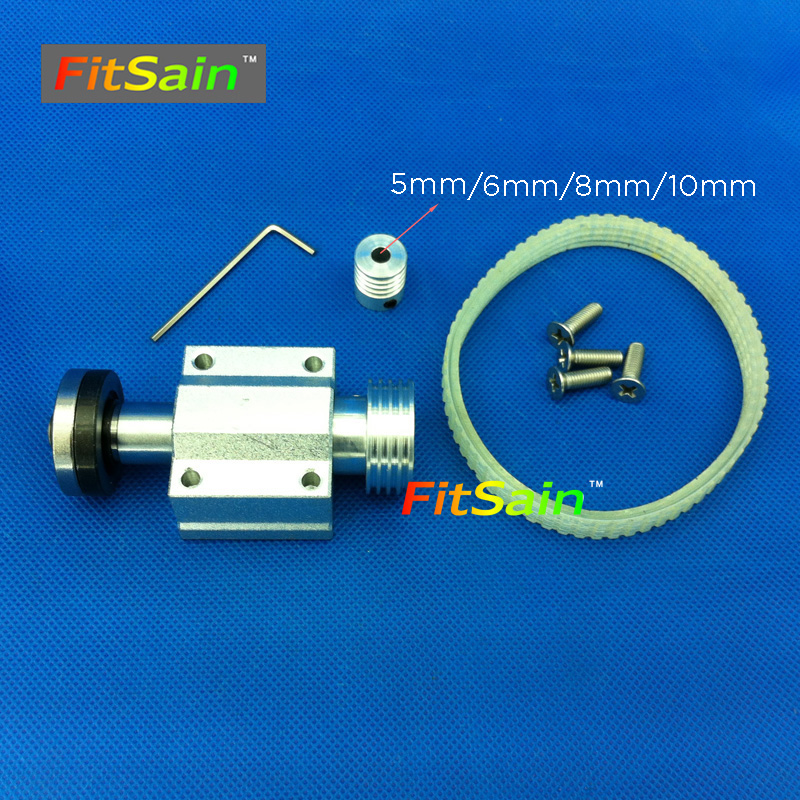 FitSain-Mini table saw for motor shaft 5mm/6mm/8mm/10mm 4 saw blade hole 16mm/20mm Belt spindle sawing spindle assembly Bearing