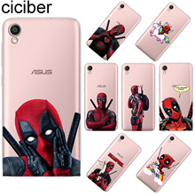 ciciber Deadpool For ASUS ZenFone Live L1 V 3 GO Zoom S Soft TPU Phone Cases For ASUS ZenFone MAX Lite Plus Pro M1 Fundas Coque