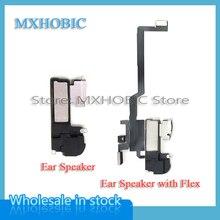 Altavoz de oreja para iPhone X, XS, Max, XR, 5 unidades por lote, Sensor de escucha, Cable flexible, piezas de repuesto, envío gratis