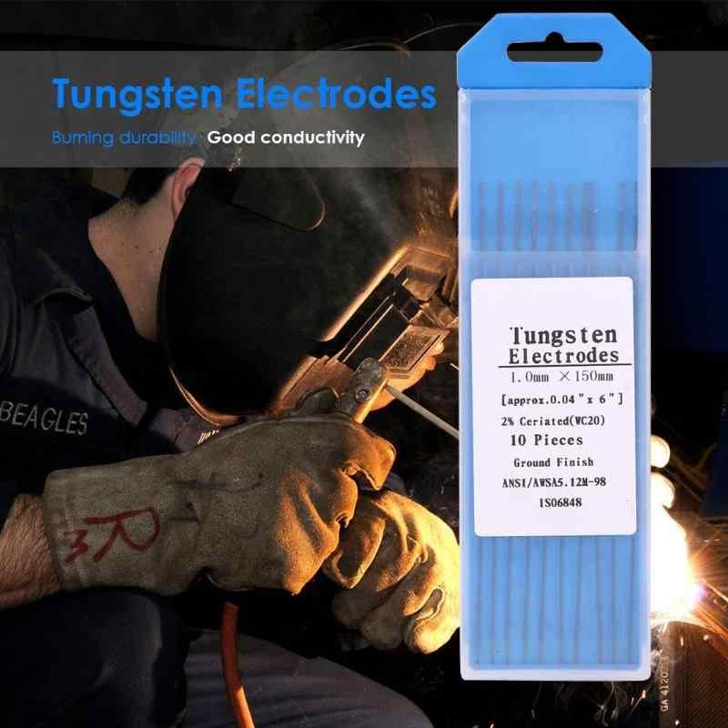 10pcs//set WC20 Cerium Tungsten Electrode Welding Rods For Tig Welding Machine