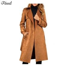 Winter Wommen Zipper Basic Suede Moyorcycle Elegant Ruffle Warm Turndown Long Collar Overcaot Casual Coat OL Coat 3 Colors