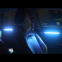 Car Door Panel LED Decorative Atmosphere Lights Decor Trim Carbon Fiber Color Style For Audi A3 8V 2013 16 Interior Accessories