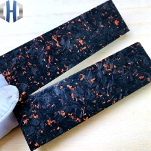 Knife Carbon Fiber Patch Forging Chaotic Shank Material New Resin Broken Composite