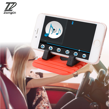 ZD 1x Phone Holder Car Dashboard GPS Anti Slip Mat Desktop Stand Bracket for Renault duster Mazda 3 6 cx-5 VW polo passat b6 b5 image