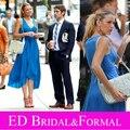 Gossip Girl vestido con cuello en V azul Blake Lively temporada 6 episodio 2 alta la infidelidad