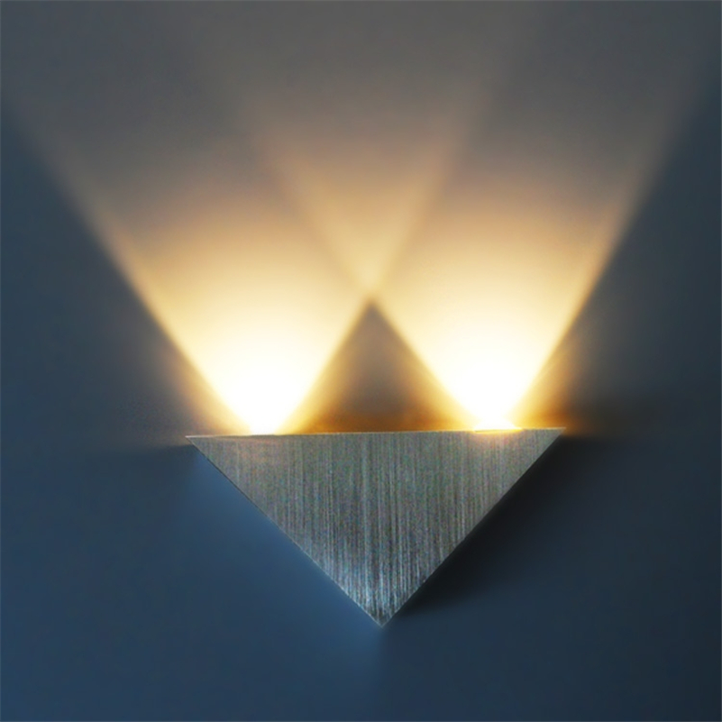 Led Lamps Led Indoor Wall Lamps Sporting 3w Aluminum Led Wall Lamp Ac 85~265v Triangle Stair Wall Lights Spot Lamp Modern Pathway Bedroom Sconce Light To Be Renowned Both At Home And Abroad For Exquisite Workmanship Skillful Knitting And Elegant Design