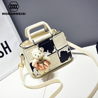 Korean Fashion Dairy Cow Style Cute Women Handbags Brand New Design 10 Color Female Messenger Bags Leather Shoulder Bags Kabelky