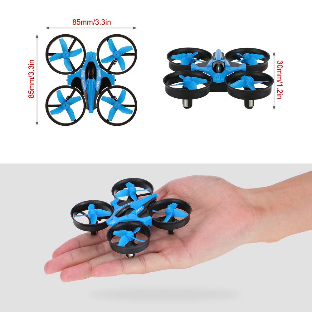 Newest Mini Drone JJRC H36 RC Micro Quadcopters 2.4G 6 Axis With Headless Mode One Key Return Helicopter Vs H8 Dron Best Toys 3