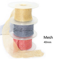 35mm SKY SYSTEM HARD MESH Metal mesh grid Bracelet and necklace cord 8m/roll