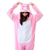 Winter Warm Unisex Adult Flannel Pajamas Adults Cosplay Cartoon Cute Animal Onesies Pyjama Sets Sleepwear Tiger