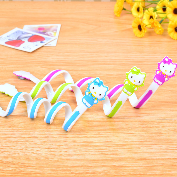 Long size 30pcs/lot Kitty Cartoon Cable Winder Headphone Earphone Cable Wire Organizer Cord Holder Power cord retention