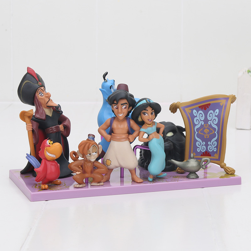 Mermaid Lion King Aladdin Princess Figure Toy Evil Monkey Tiger Aladdin And His Lamp PVC Action Figure Model Toy Dolls 2-10cm