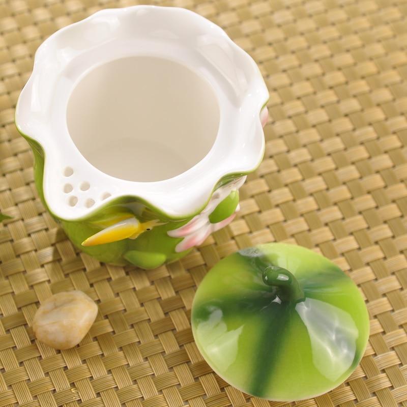 Esmalte de color Porcelain Tureen Juego de té Kungfu Kungfu Easy - Cocina, comedor y bar - foto 3