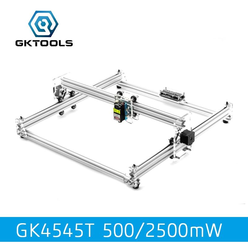 все цены на GKTOOLS 500mW,2500mW 45*45cm Mini CNC Wood Laser Engraver Cutter Engraving Machine DIY Acrylic,PWM,Benbox GRBL EleksMaker