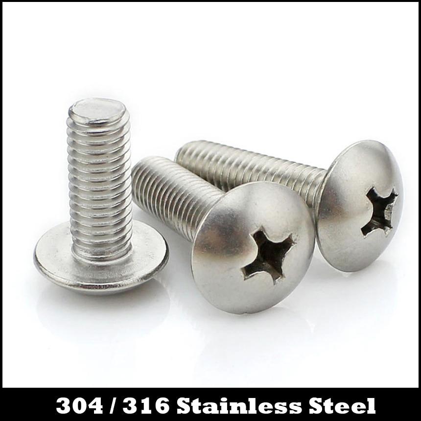 M8 M8*16 M8x16 M8*20 M8x20 M8*25 M8x25 304 Stainless Steel ss Philips Cross Recessed Round Truss Mushroom Head Machine Screw 3pcs m8 100mm m8 100mm 304 stainless steel ss din933 full thread hex hexagon head screw