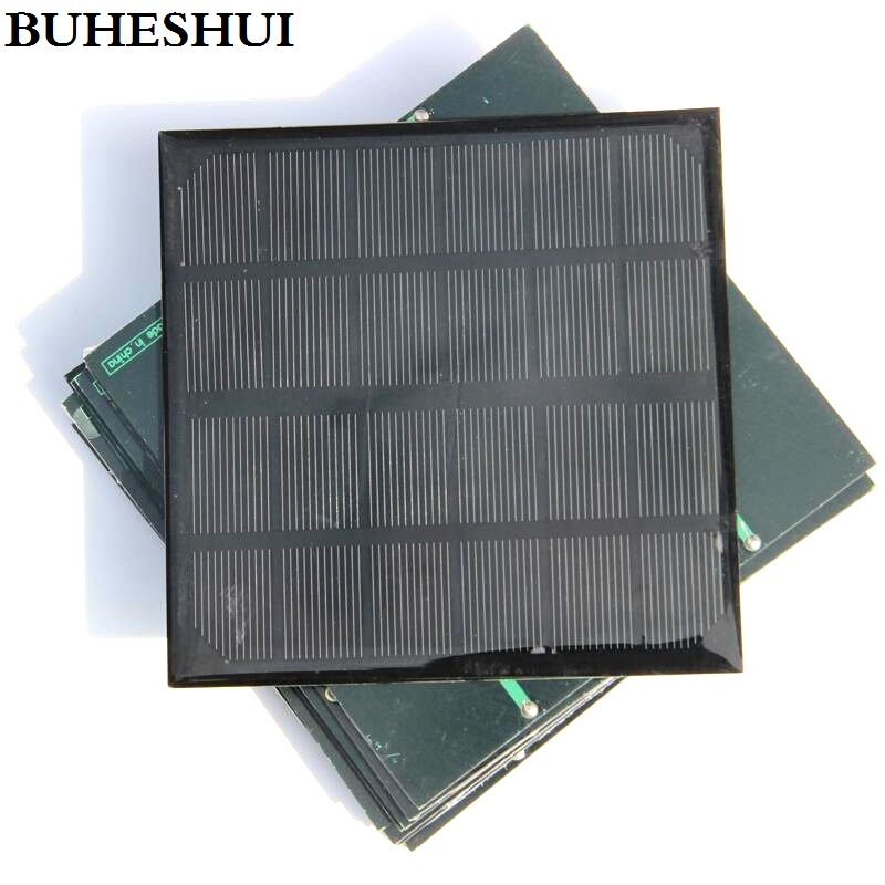 BUHESHUI 3W 6V Monocrystalline Mini Solar Panels Solar Power 3.7V Battery Charger Light Solar Cell 145*145MM 2pcs Free Shipping