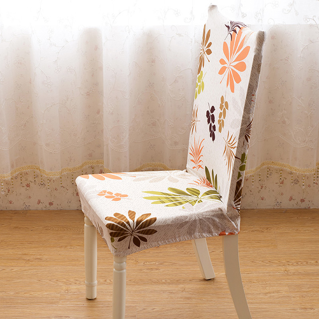 Dining Chair Covers Aliexpress Cheap For Chairs With Arms Room Jacquard Poyester Spandex Fabric Antifouling Cap Slipcovers Hotel Banquet
