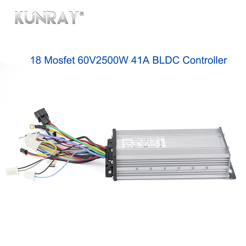 60V 2500W Electric Motor Brushless Controller 18 Mosfet 41A Electric Scooter Bike Motorcycle E tricycle Controller
