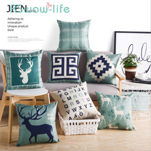 45*45CM Linen Pillows + Pillowcase Neck Pillow Back Cushion For Back Pain Bed Pillow For Bedroom Supplies