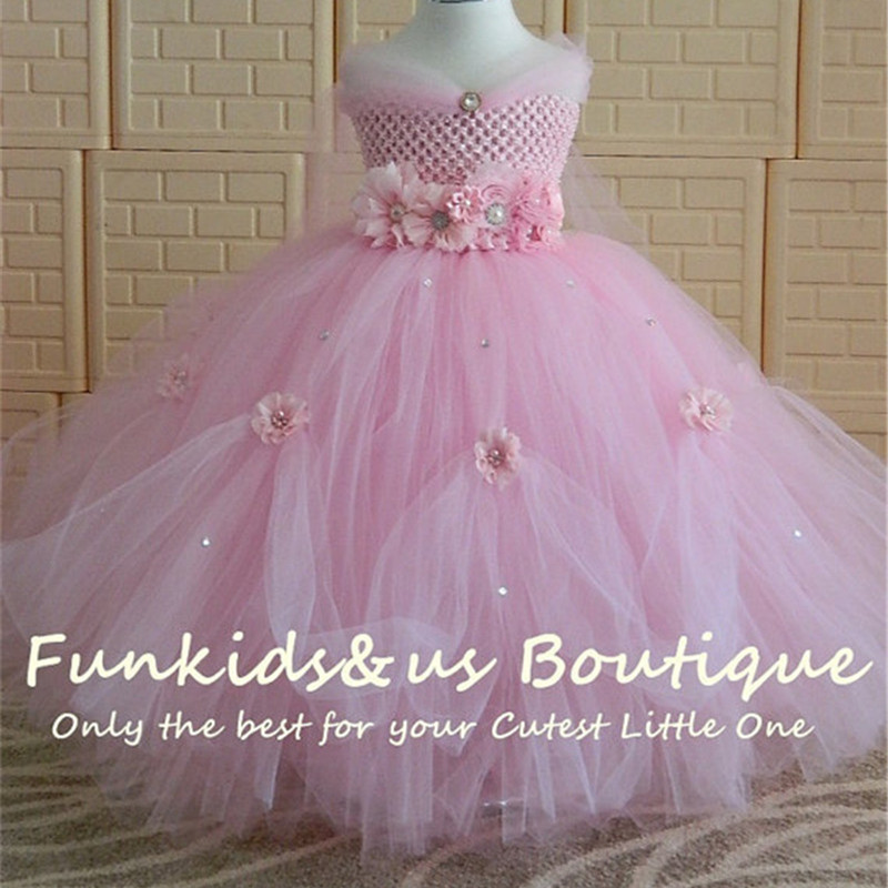 1 8Y Princess Tutu Tulle Flower Girl Dress Kids Party Pageant ...