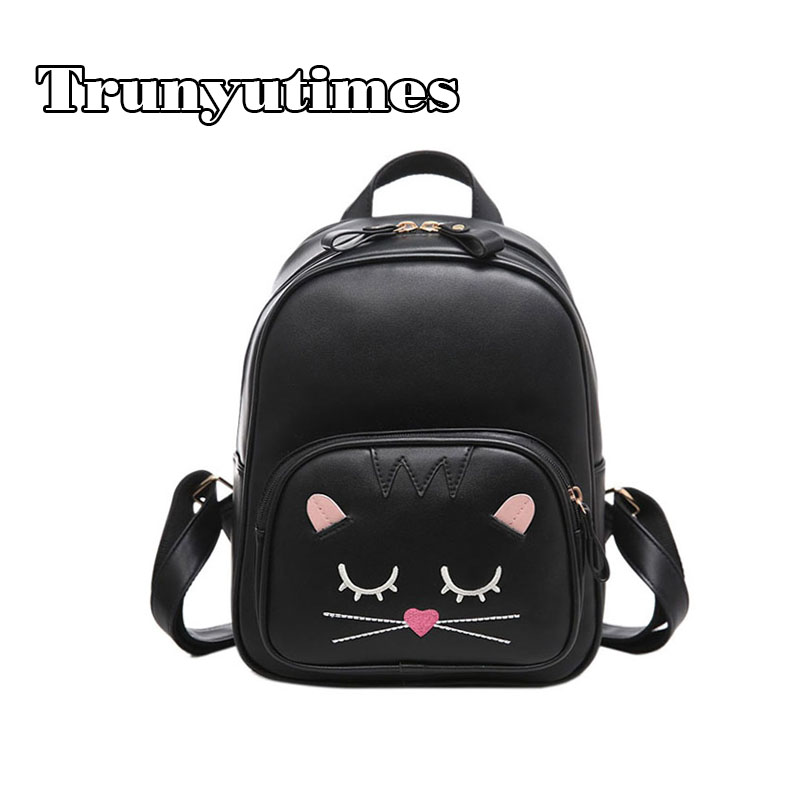 New Small Backpack Preppy Women Leather Backpack Cute School Backpack for Teenage Girls Casual Travel Bag