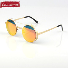 купить 2015 Round Small Sunglasses for Women and Men Colored Lenses UV400 Sunglasses дешево
