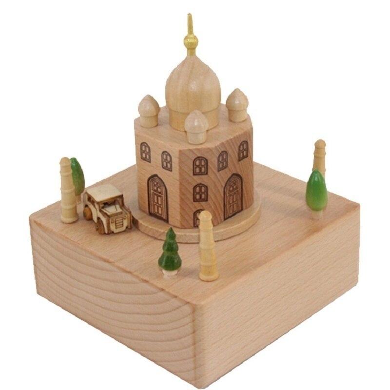 Accessoires De décoration De maison Dragon Caixa Presente Carillon Scatole Musicali boîte à musique en bois De Musica caja carrousel Musical