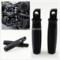 Black CNC Custom Foot Pegs Footpegs Fits For Harley 883R 883L 48 Sportster ROUGH CRAFTS