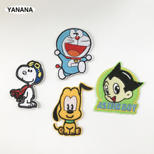 Cartoon Animals Patch for Clothing Iron on Embroidered Sewing Applique Cute Sew On Fabric Badge DIY