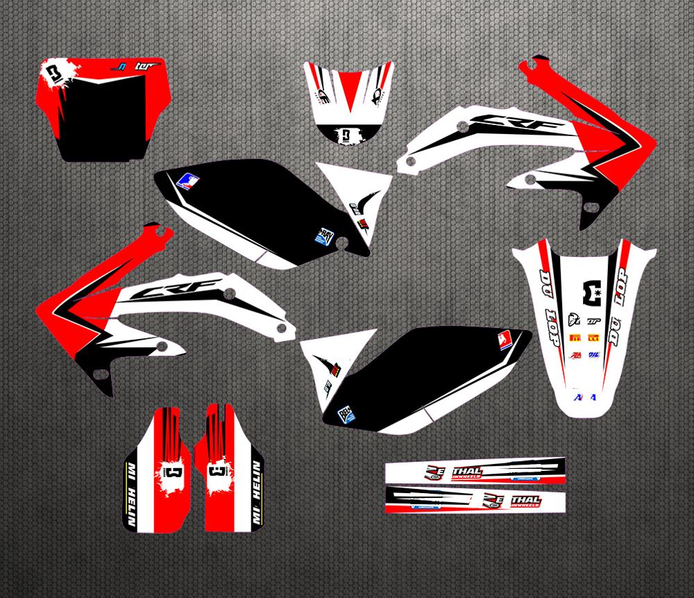 For CRF450R CRF 450 R CRF450 2005 2008 2006 2007 Full set Sticker Kit Customized Number