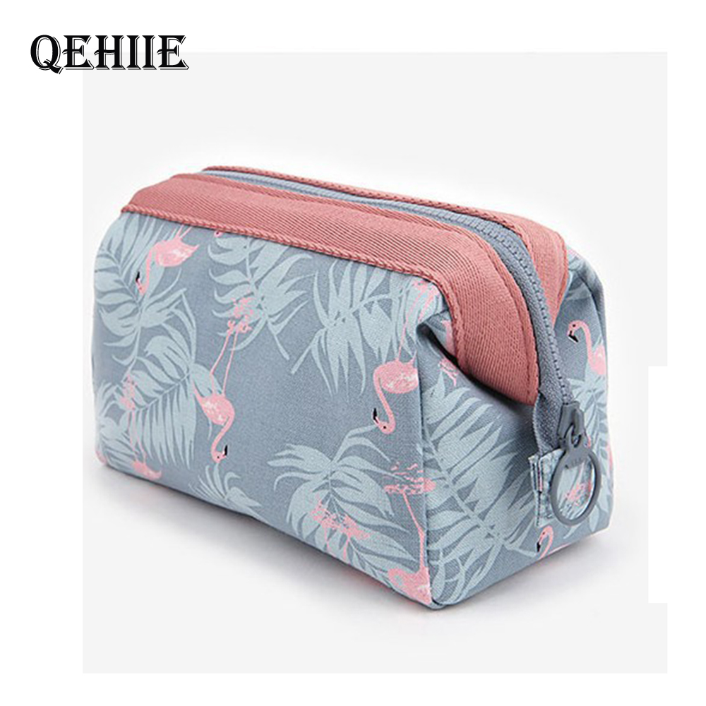 Cosmetic-Bags Toiletry-Kits Necessaire Flamingo Travel Waterproof Portable Women High-Quality