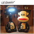 LEDIARY Rechargeable Cartoon LED Desk Lamp Monkey Flexible Length Night Light 12LED 220V Reading Lamp for Student Eye Protection