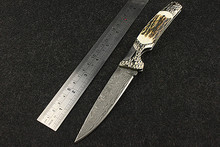Navajas New Rushed 2016 High Quality Survival Knife Self-defense Damascus Hardness Saber With Fruit Folding Outdoors In Bending