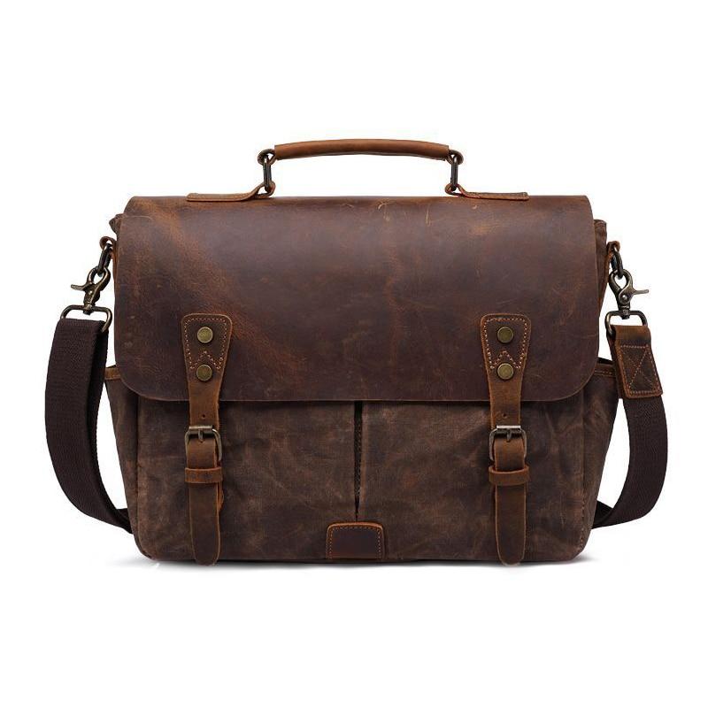 Batik Canvas Vintage Retro Waterproof Camera Shoulder Casual Messenger Photo Men Women 14 Laptop Bag for