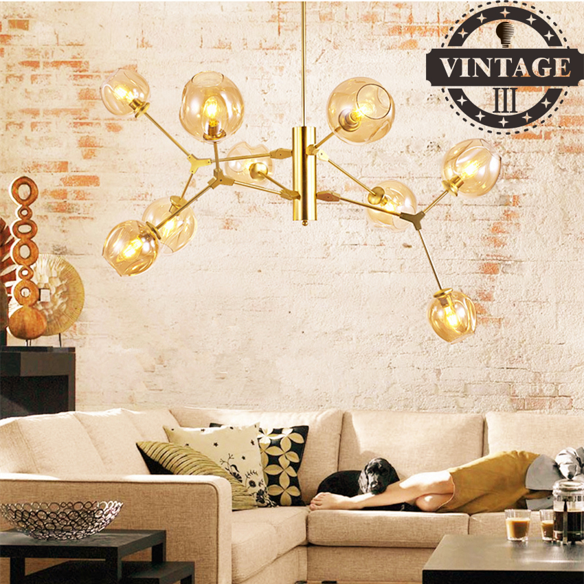 Vintage Black Gold Bar Stair Dining Room Glass Shade suspension luminaire Pendant Lamp Loft Industrial Pendant Lights Fixtures loft vintage industrial pendant light fixtures copper glass shade pendant lamp restaurant cafe bar store dining room lighting
