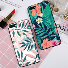 Shockproof Case For Huawei Honor 7C 5.7 inch 7A 5.45 inch Russia Version Flamingo Flowers Leaves Pineapple Marble Cases Skin(China)