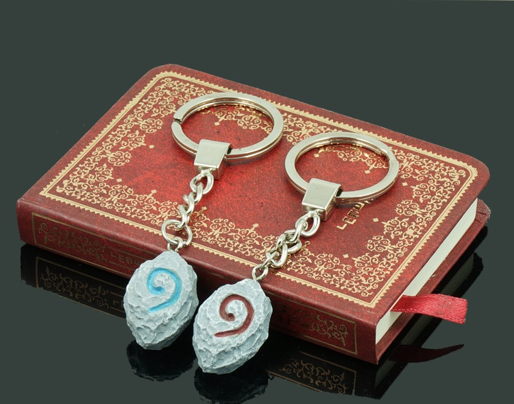 Hearthstone Keychain Game WOW Key rings Lovers Pendants 2 colors for gifts