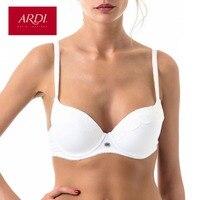 ARDI New Lace Woman's Push Up Underwire Bra Underwear BH White 70 75 80 85 A B C D Cup with Cotton Plus Size Underwear R2706 05