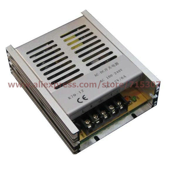 цена на Leetone K70-12 70W switching power supply 12V 6A high efficiency 100-240VAC input with OVP & OTP for 3 years warranty